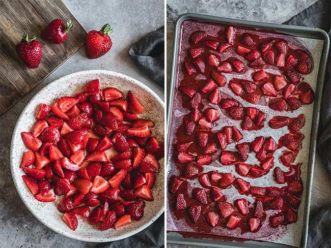 Honey roasted strawberries