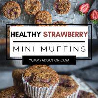 Strawberry mini muffins pinterest pin