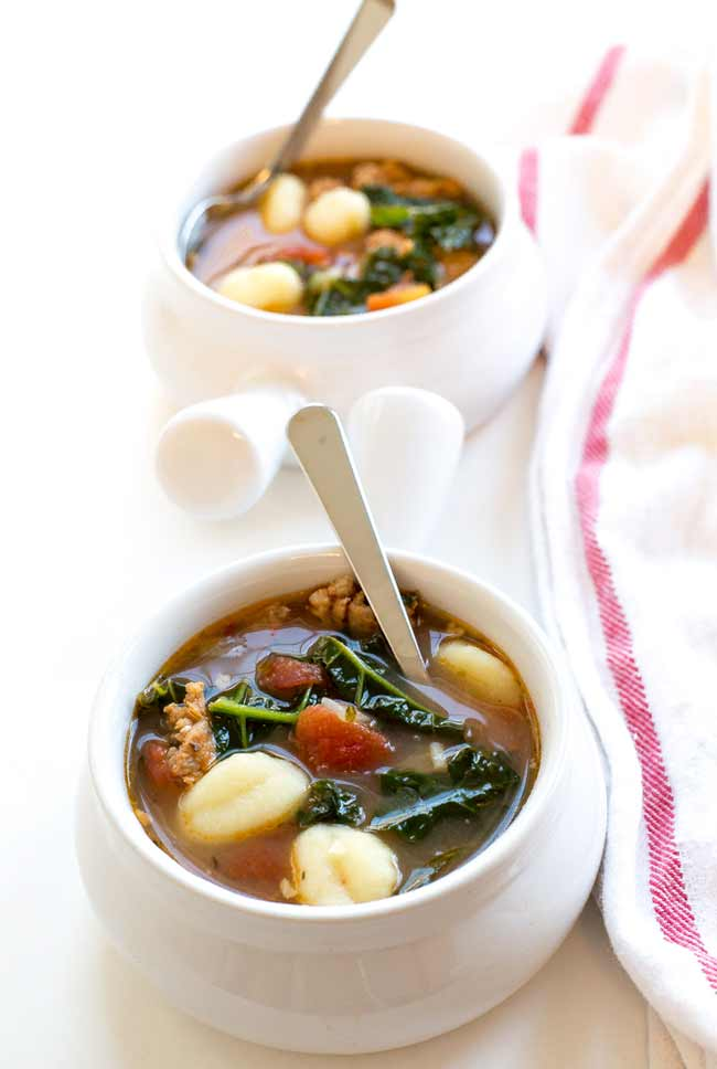 Italian Gnocchi Soup with Kale and Sausage
