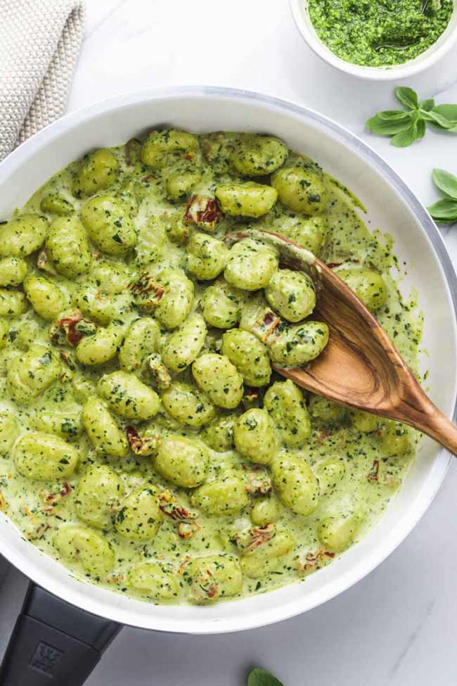 Creamy Pesto Gnocchi
