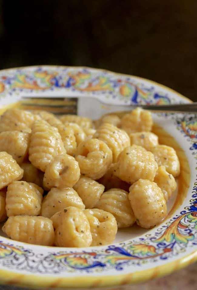 Pumpkin Gnocchi with Butter Sage Sauce