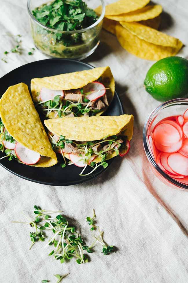 Leftover Steak Salsa Verde Tacos