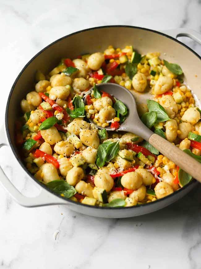 Sweet Corn & Zucchini Gnocchi Skillet