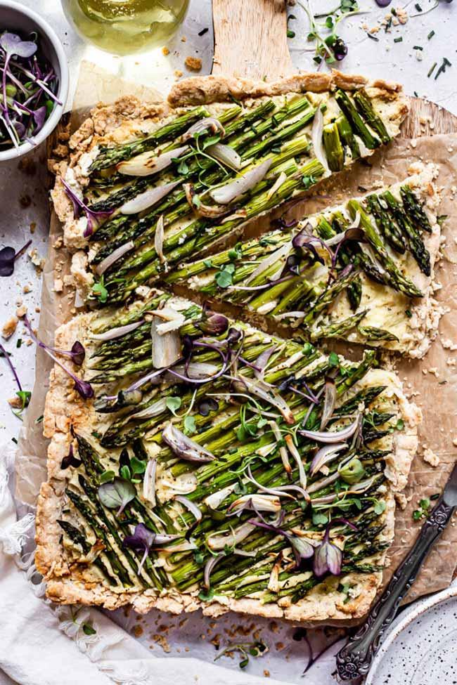 Asparagus Shallot Tart