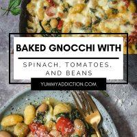 Baked gnocchi Pinterest pin