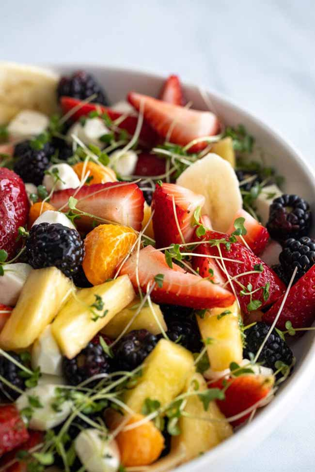 Simplest Fruit And Microgreen Salad