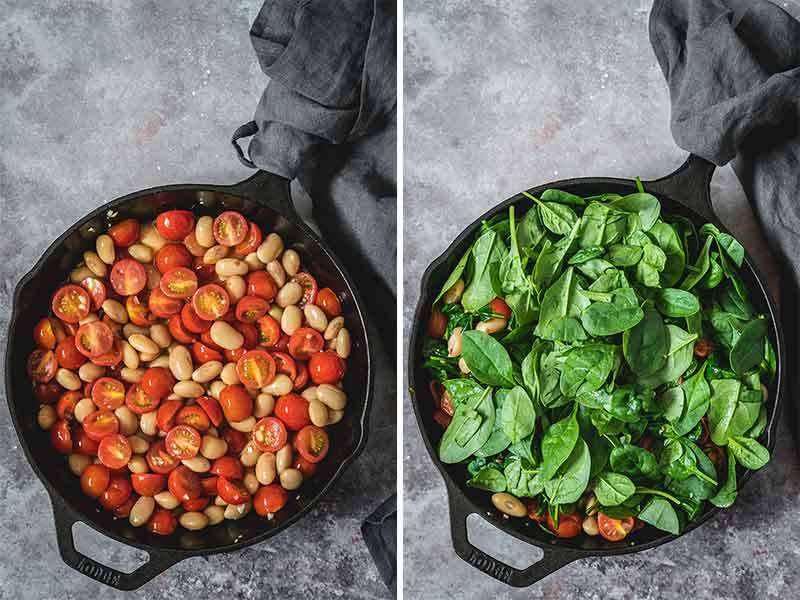 Making gnocchi in a cast iron skillet