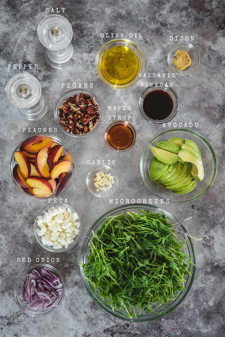 Salad ingredients on the table