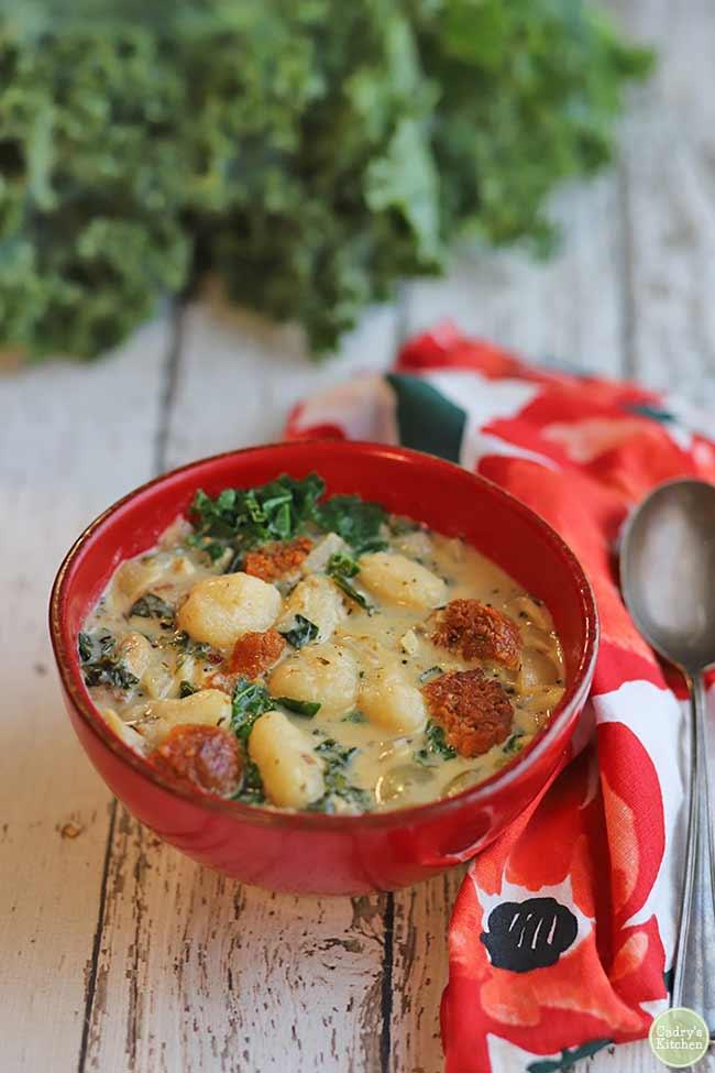 Creamy Gnocchi Soup With Sausage & Kale