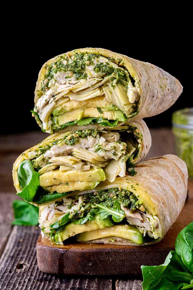 Grilled Pesto Chicken Wraps