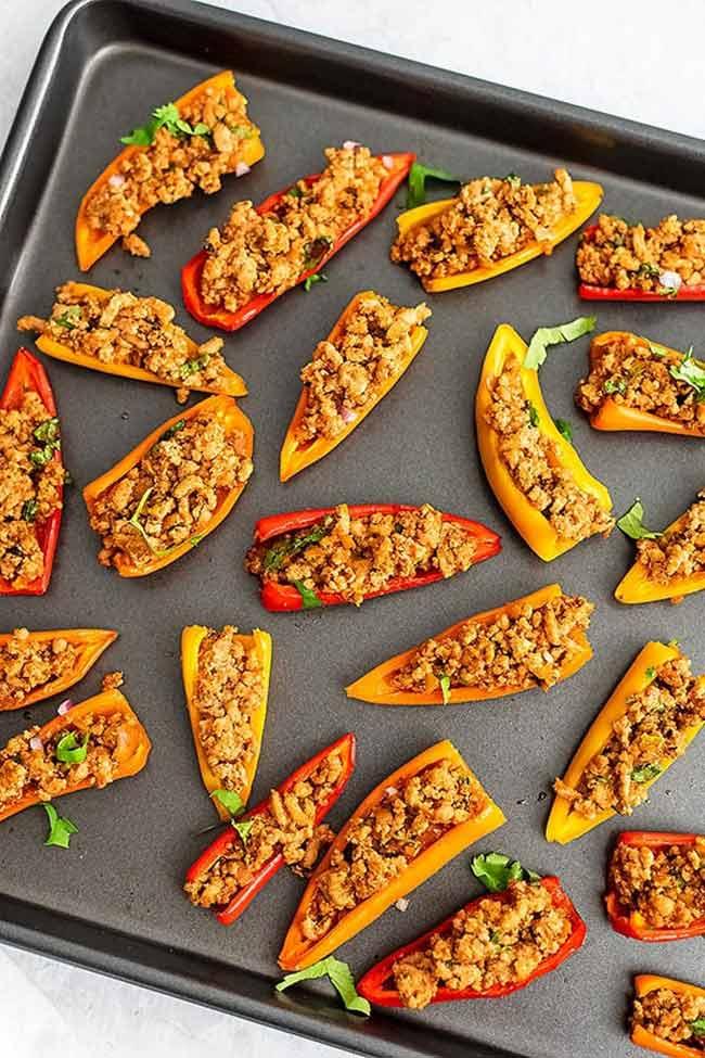 Paleo Mini Pepper Nachos