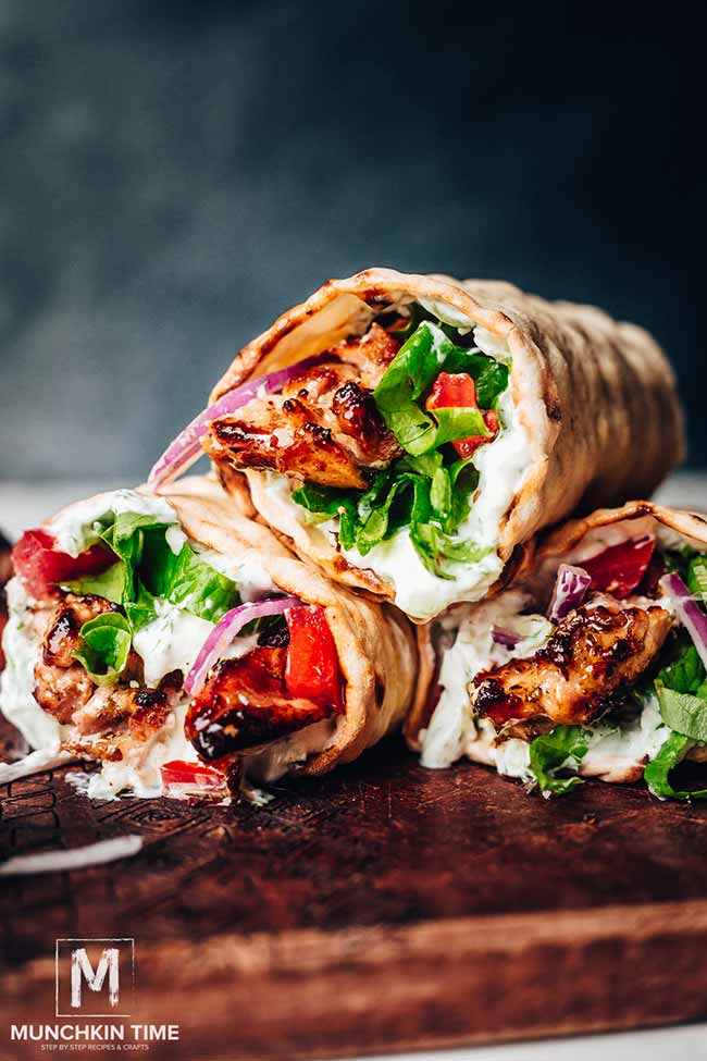 Greek Chicken Gyros recipe