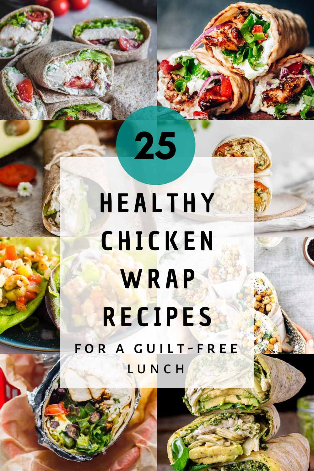 Healthy chicken wrap recipes featured image