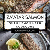 Zaatar salmon pinterest pin